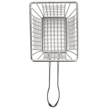 "American Metalcraft® Stainless Steel Mini Fry Basket, Rectangle, 4"" x 3"" x 3"" - RFS035/FRYT433"