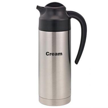 Service Ideas® SteelVac™ Vacuum Cream Carafe, 1 L  - RFS958/S2SN100CRET