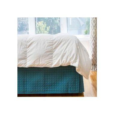 Gouchee Design Grid Microfiber Quilted Duvet Cover  Set Queen Teal
