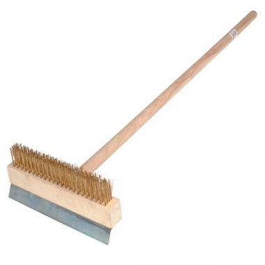 Johnson Rose® Pizza Brush w/Scraper - RFS100/BRW-38PO