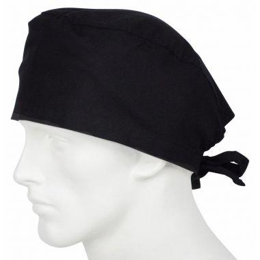 Cleantech™ Reusable/Washable Unisex  Surgeon's Cap Black- 12/Pack