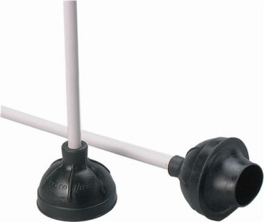 Atlas Graham Rubber Toilet Plunger with Plastic Handle, Black