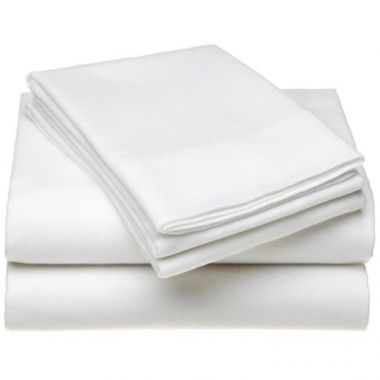 Adonis T200 Hospitality Percale Fitted Sheet 50/50 Cotton/Polyester White - 12/Pack