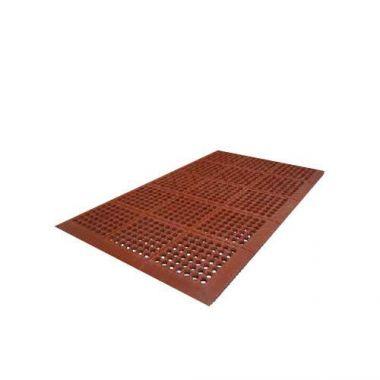 """Axia® Premium Beveled Edge Anti-Fatigue Mat, Red, 36"""" x 60"""" x 0.5""""- RFS1500/AFD3660T"""