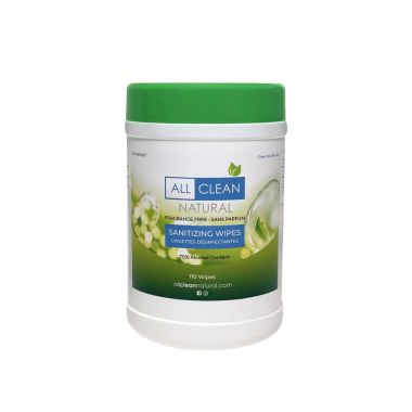All Clean Natural 110 Count Sanitizing Wipes