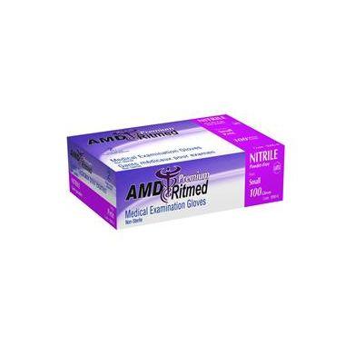 AMD Nitrile Glove Powder Free Medium 100/box