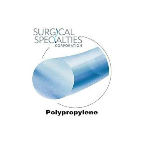 "Look Suture Polypropylene Blue Monofilament 6-0 1082B, 18""/45cm, C3, 12/box"