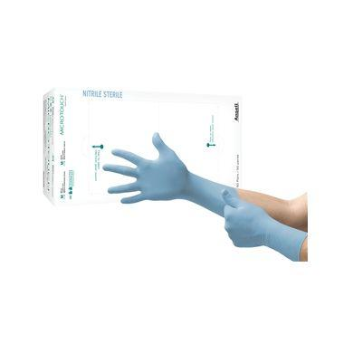 Ansell MicroTouch Nitrile Sterile Gloves LARGE 50pr/box