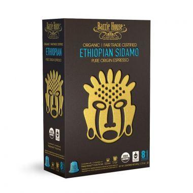 Barrie House Organic Ethiopian Sidamo Nespresso Compatible Capsules. Pack 10 EDCBHETHSID