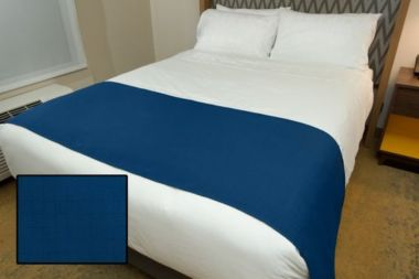 Linen Plus Hospitality Milan Square Bed Runners Blue