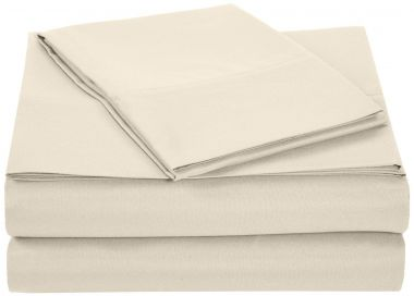 Thomaston Mills USA T180 Hospitality Fitted Sheets 50/50 Cotton/Polyester Bone