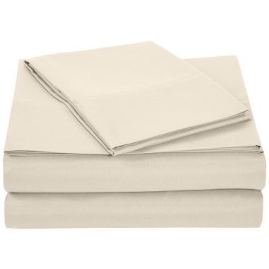 Thomaston Mills® USA T180 Percale Hospitality Sheets & Pillowcases 50/50 Cotton/Polyester Bone - Pack of 12