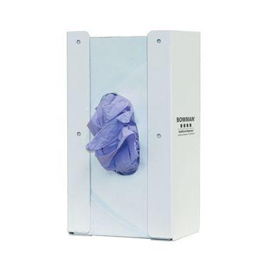 Cabinet Mount Glove Box Dispenser - Single, With Flexible Spring