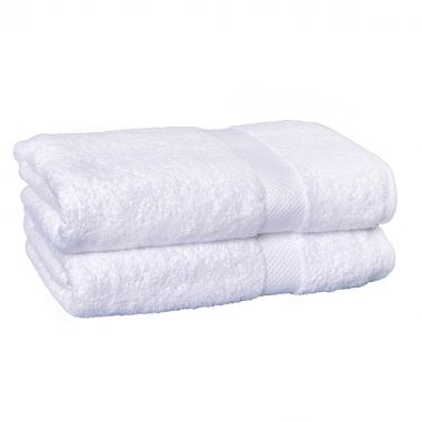Breeze™100% Egyptian Cotton Bath Towel 27x 54 wt.15lbs/dz. Dobby Border White