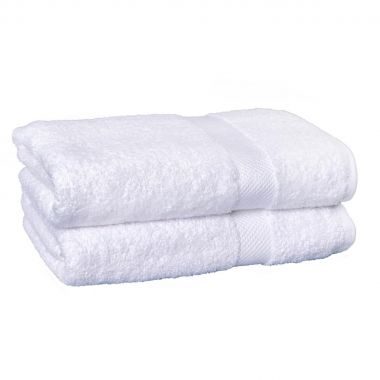 Breeze™ 100% Egyptian Cotton Bath Sheet 30x60 wt.20lbs./dz Dobby Border White