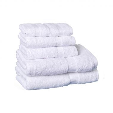 Breeze™ Premium 100% Egyptian Cotton w/ Dobby Border Hospitality Towels, White