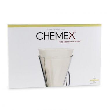 CHEMEX-COFFEE FILTER HALF MOON 100/BOX-FP2:24EDCHEMFILMOONFP2