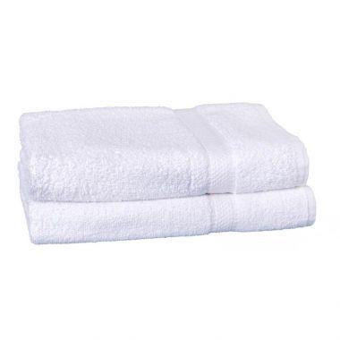 Charisma™ 86/14 Ringspun Cotton/Polyester Bath Towels 27x54 wt.12lbs/dz White - 12/PK