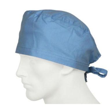 Cleantech™ Reusable/Washable Unisex  Surgeon's Cap Light Blue- 12/Pack