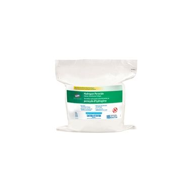 """Clorox Healthcare Hydrogen Peroxide Cleaner Disinfecting Wipes REFILL 12"""" x 12"""" 185/tub"""