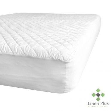 "Gold + Cross™ Commercial Contour Mattress Pads/Topper KING Size 78""x 80""x 15"" Fitted Elastic Finish White"