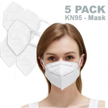 Cleantech KN95 Stereoscopic Disposable Protective Face Mask GB2626-2006 - Pack of 5