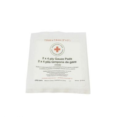 "3"" X 3"" 4 PLY STERILE GAUZE - BAG OF 25 (2 PER PACKAGE)"