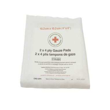 """4"""" X 4"""" STERILE GAUZE 4 PLY - 2 PER PACKAGE, BAG OF 25"""