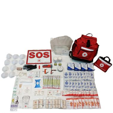 10 PERSON 12 HOUR - CRC BASIC DISASTER PREPAREDNESS KIT with Water Rations