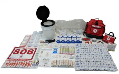 10 PERSON 72 HOUR - CRC BASIC DISASTER PREPAREDNESS KIT with Water Rations