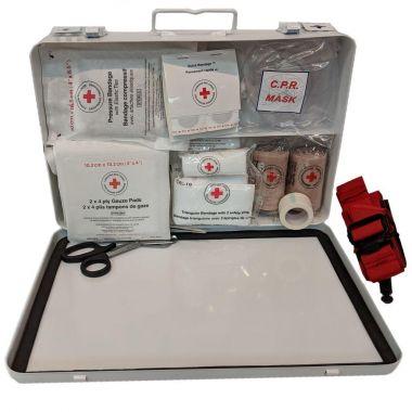 BRITISH COLUMBIA LEVEL 1 FIRST AID KIT IN METAL BOX