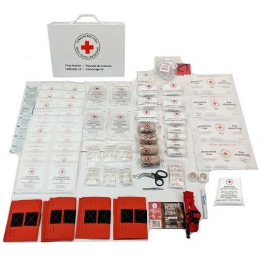 BRITISH COLUMBIA LEVEL 3 FIRST AID KIT IN METAL CASE - WITHOUT OXYGEN KIT