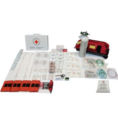 BRITISH COLUMBIA LEVEL 3 FIRST AID KIT IN METAL CASE - WITH OXYGEN KIT