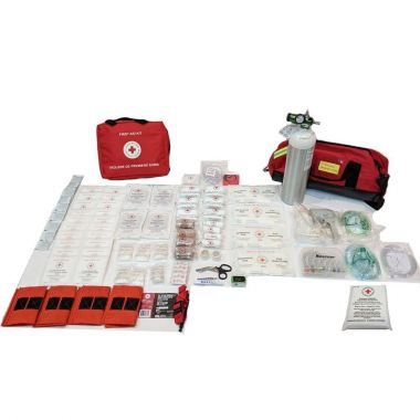 BRITISH COLUMBIA LEVEL 3 FIRST AID KIT IN NYLON BAG - WITH OXYGEN KIT