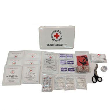BRITISH COLUMBIA BASIC FIRST AID KIT IN PLASTIC BOX