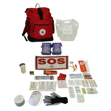 2 PERSON- CANADIAN RED CROSS BASIC DISASTER PREPAREDNESS KIT