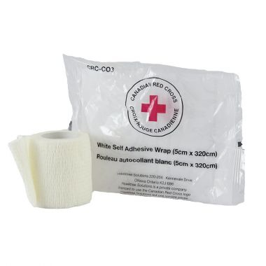 RED CROSS SIMPLE WRAP 2 INCH - WHITE