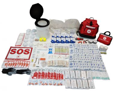 10 PERSON 72 HOUR - CRC DELUXE DISASTER PREPAREDNESS KIT with Water Rations