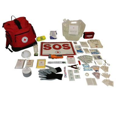 1 PERSON - DELUXE DISASTER PREPAREDNESS KIT With Water Rations