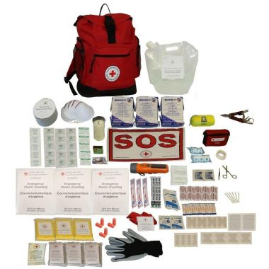 3 PERSON - DELUXE DISASTER PREPAREDNESS KIT with Water Rations