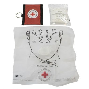 CRC-CPR KEY CHAIN MASK AND GLOVES - RED
