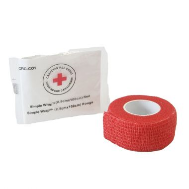 RED CROSS SIMPLE WRAP 1 INCH - RED
