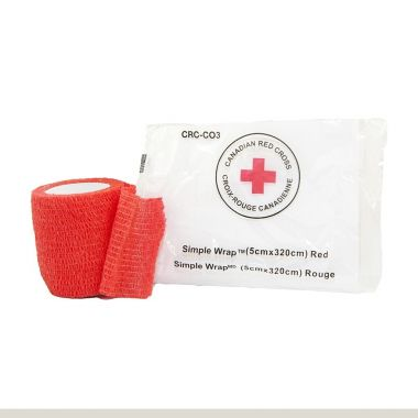 RED CROSS SIMPLE WRAP 2 INCH - RED