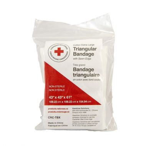 TRIANGULAR BANDAGE W/SEWN EDGE, 109.22 X 109.22 X 154.94 CM,