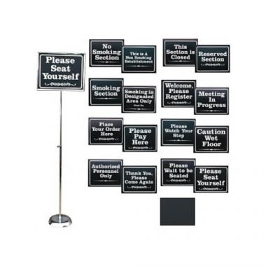 "Rainbow® Adjustable Floor Sign w/Sign Kit, 24"" - 48""- RFS378/CST-1114-K"
