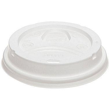 D9542-Dixie® PerfecTouch Plastic Dome Lid For 12-20 oz. Cups, White, 1000/Case