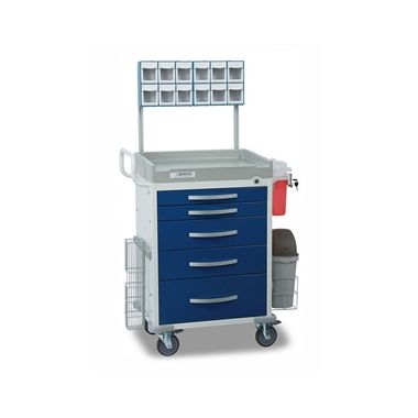 Detecto Anesthesiology Cart, 6 drawer with accessories