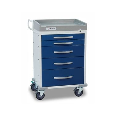 Detecto Anesthesiology Cart, 5 drawer with accessories