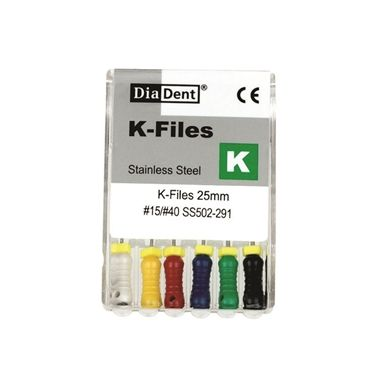 DiaDent K-Files SS #50 25mm 6/pack