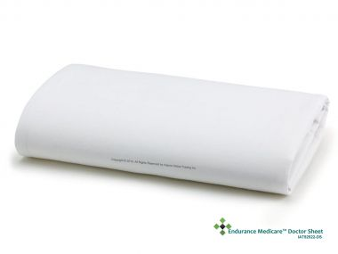 "Endurance Medicare™ T200 Flat Doctor / SPA Sheets 54"" x 94"" White - Pack of 12"